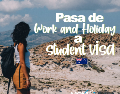 Cómo pasar de la Work and Holiday visa a la visa de estudiante en Australia